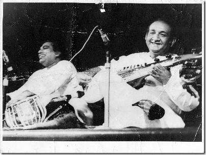 Pt Ashok Roy with Bhagwan Pandey in 1970's in Fiji